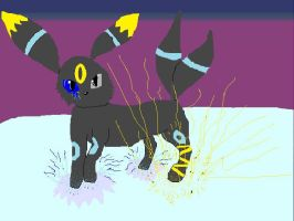 Lightning Umbreon by Alpha-wolf25