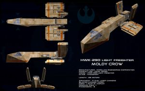 HWK-290 light freighter Moldy Crow ortho by unusualsuspex