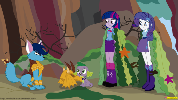 mlp s6 ep 5 - Equestria girls - Gauntlet of Fire by CoNiKiBlaSu-fan