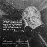 George Carlin portrait etched on granite tile by PeterIst