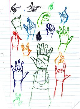 Hand Sketches by alfredkirkland1212