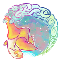Rainbow Trails by crayon-chewer