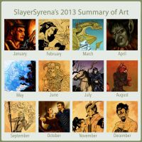 SlayerSyrena's 2013 Summary of Art by SlayerSyrena