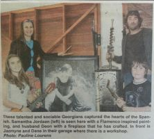 My family and I -newspaper article by SamanthaJordaan