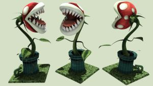 3D Carnivorous Plant - Mario by iemersonrosa