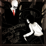 .:Slenderman vs Jeff -The first meeting:. by PuRe-LOVE-G-S