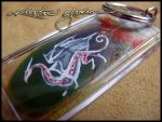 Feather Painting Keychain 21 by dittin03