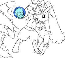 pokemon group lineart4 by michy123
