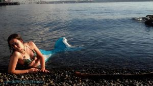 Mermaid at The Puget Sound by FreshwaterMermaid