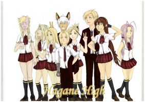 FMA OC school picture colored by Irikila