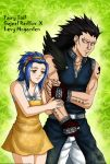 Fairy Tail-Gajeel and Levy by syren007