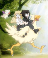 On the Chocobo by Rael-chan89