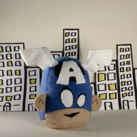 Captain America Heads Up Plush by Saint-Angel