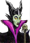 Maleficent Portrait, Colorized by moviedragon009v2