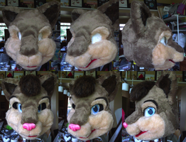 Loka Fursuit WIPs 3 and 4 by therougecat