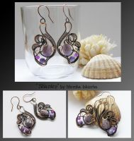 Shanley- wire wrapped copper earrings by mea00