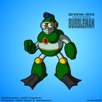 Mega Man 2 - Bubbleman by TheRealSneakers