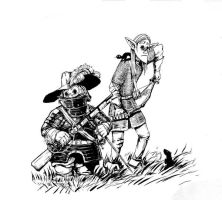 dwarf and elf by Flick-the-Thief