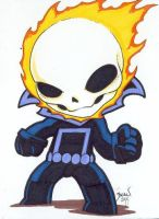 Chibi-Ghost Rider 3. by hedbonstudios