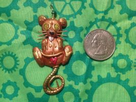 Steam Punk Rat Pendant by omfgitsbutter