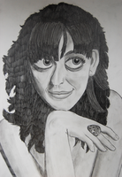 2012 Charcoal Portrait of Katy Perry by Magenta-Fantasies
