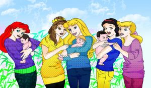 Disney Princess Mother Colour by Sheerisan