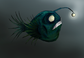 Meet Milton the Angler Fish by Shauna-O-Connor