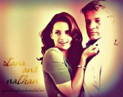 Stana and Nathan by bubblenubbins