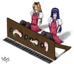 Himeko and Chikane foot tickled! by marceloeguerrero