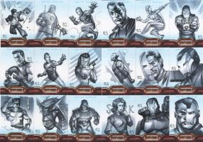 Iron Man 2 sketchcards Set 3 by ronsalas