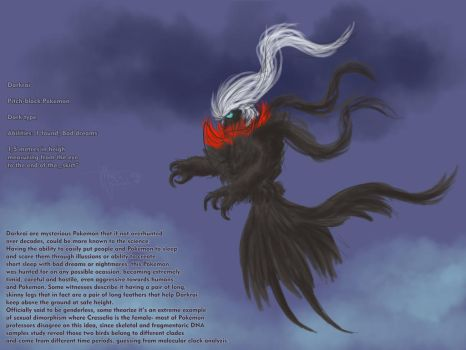 Darkrai loose concept sketch by Weirda-s-M-art