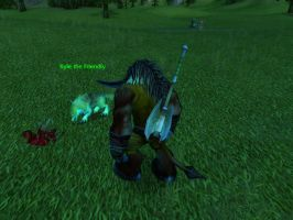 World of Warcraft - Feeding Kyle the Friendly Wolf by Gery850