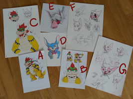Selling some old drawings by xNIR0x