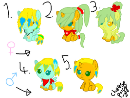 MLP|Breedable Foals|Kelpy BlissxTreasure Seas|OPEN by cheesepuff2