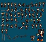 Ash the hedgehog [FIRST EVER SPRITE SHEET] by Kay-The-Bat