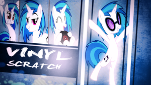 Vinyl Scratch Wallpaper by TygerxL