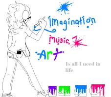 Imagination, Music, and Art by crystal-pony123