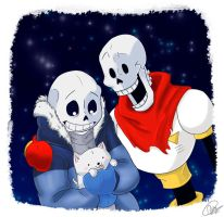 Undertale - Sans and Papyrus by InfiniteTale00