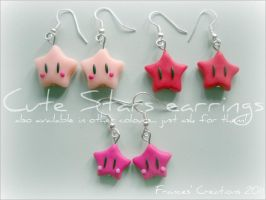Cute Stars Earrings by ApoAddicted