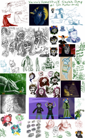 Homestuck Sketch Dump 1 by Xaiena