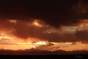 Longs Peak Sunset by 1001G