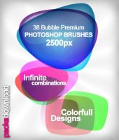 Bubble Shapes Premium Brushes by Packsdownload