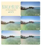 Beachy Blues Actions by beorange