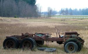 broken down pile of rust by JensStockCollection