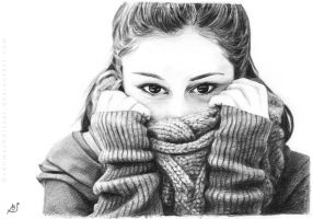 Drawing of Giulia by Rahmschnitzel