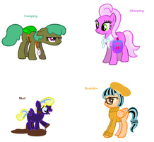 Themed adoptables 77-80 by BronyBase