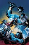 Thor vs Frost Giants colored by ReillyBrown