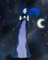 Princess Luna (Human) by RoseyTail