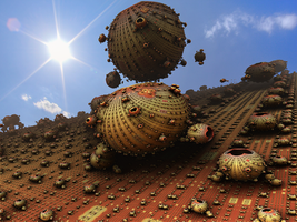 Fractal Vision Of Mars by somnl