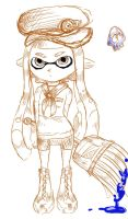 Sketch of my Squid by Edge-Mokku